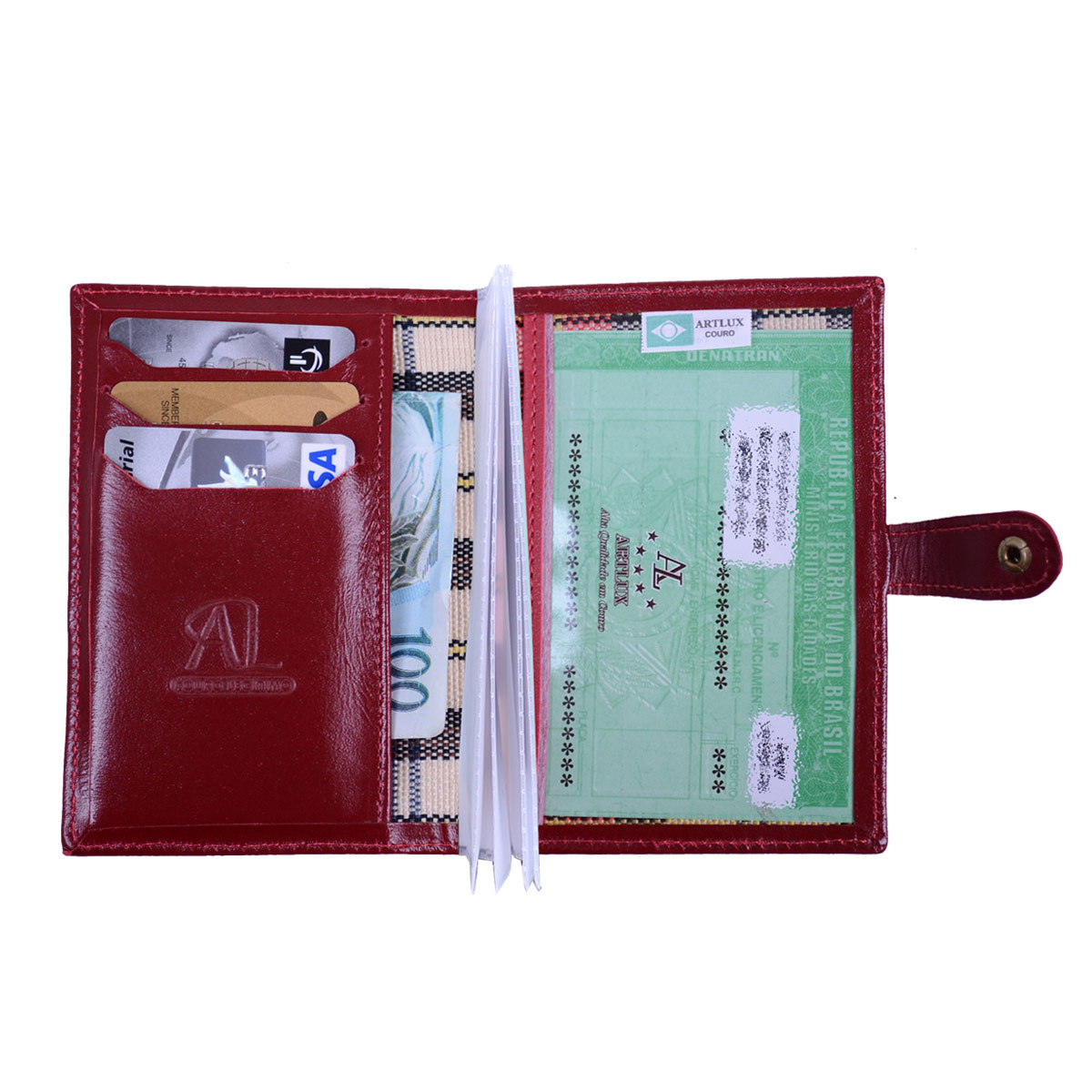 Conjunto Porta Documentos mais Porta Cartões  Habilitação