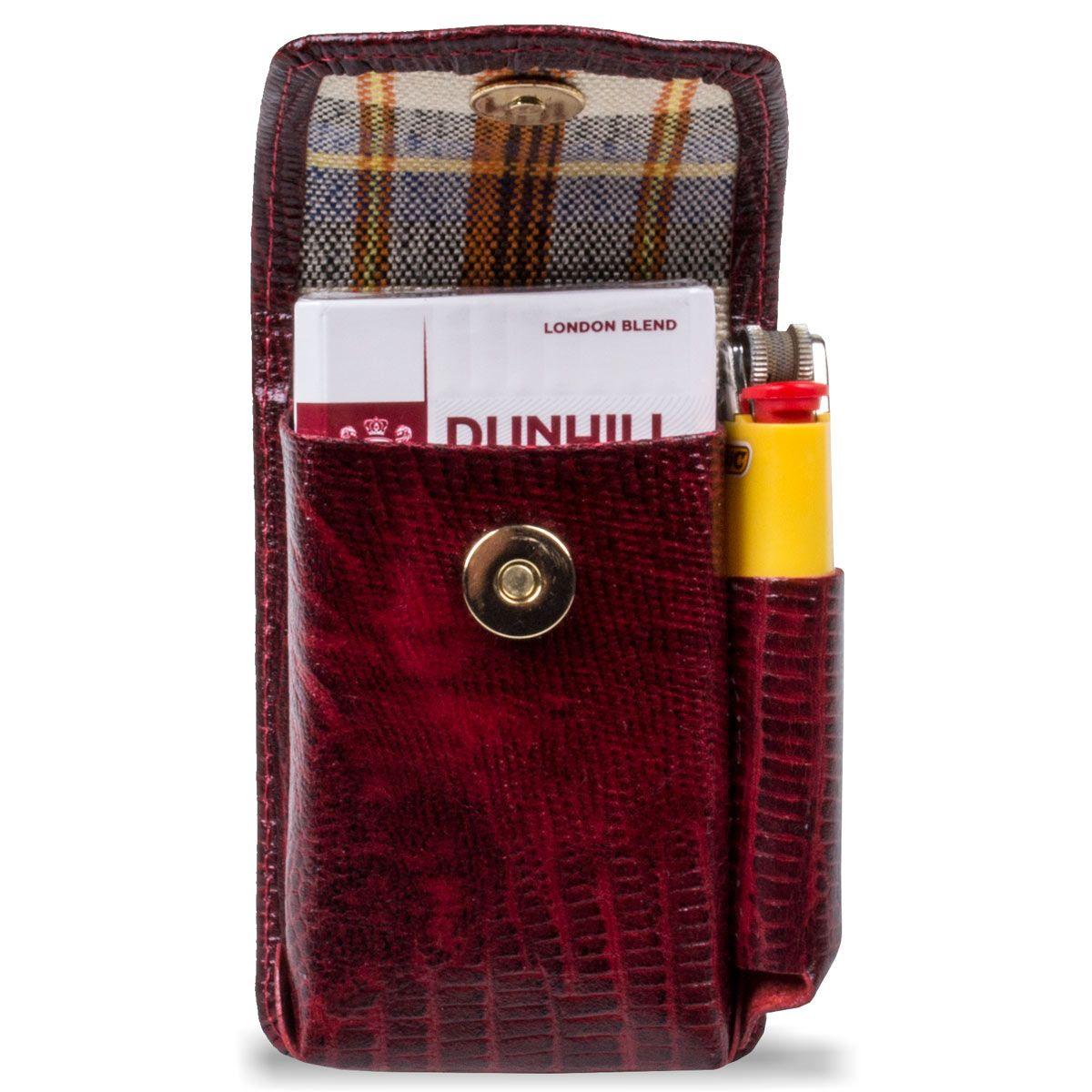 Kit Cigarreira de Couro mais Cinto