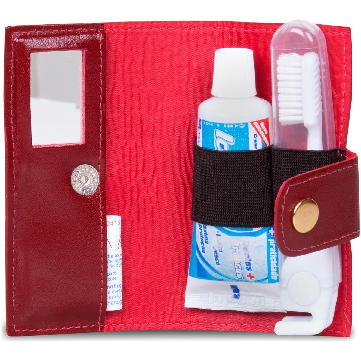 Kit Higiene Bucal Artlux em Couro