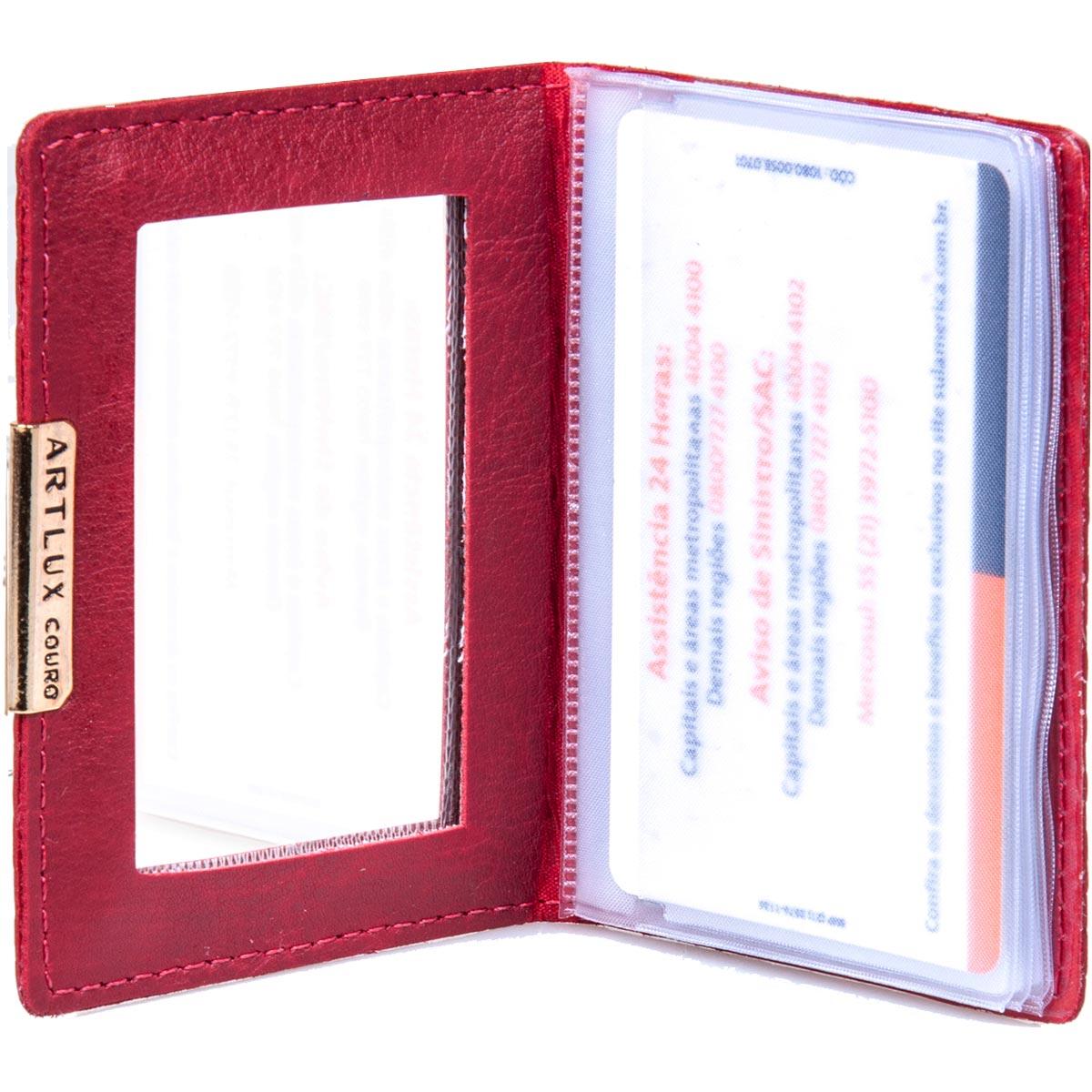 Porta Cartão com Espelho Artlux