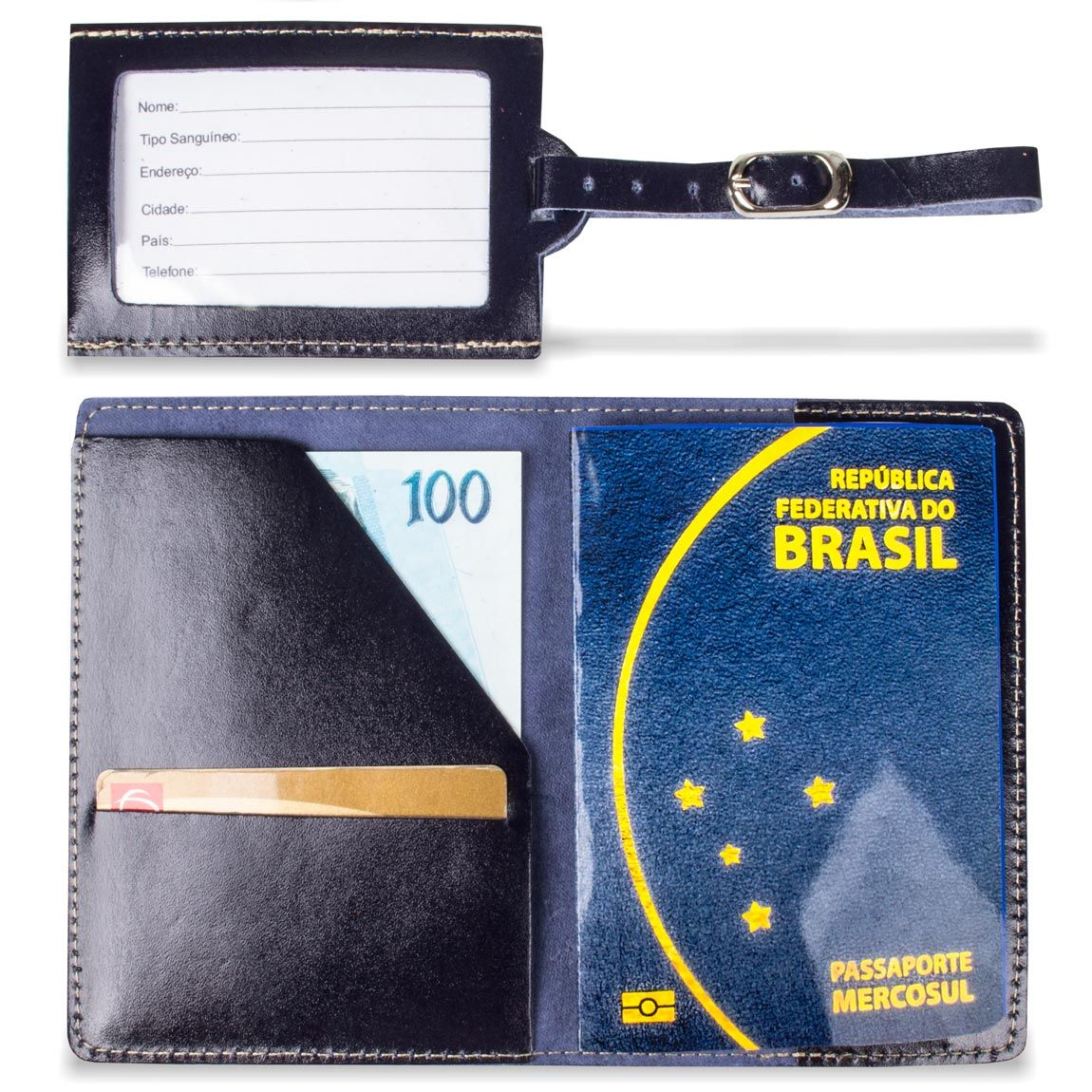 Porta Passaporte mais Tag Artlux