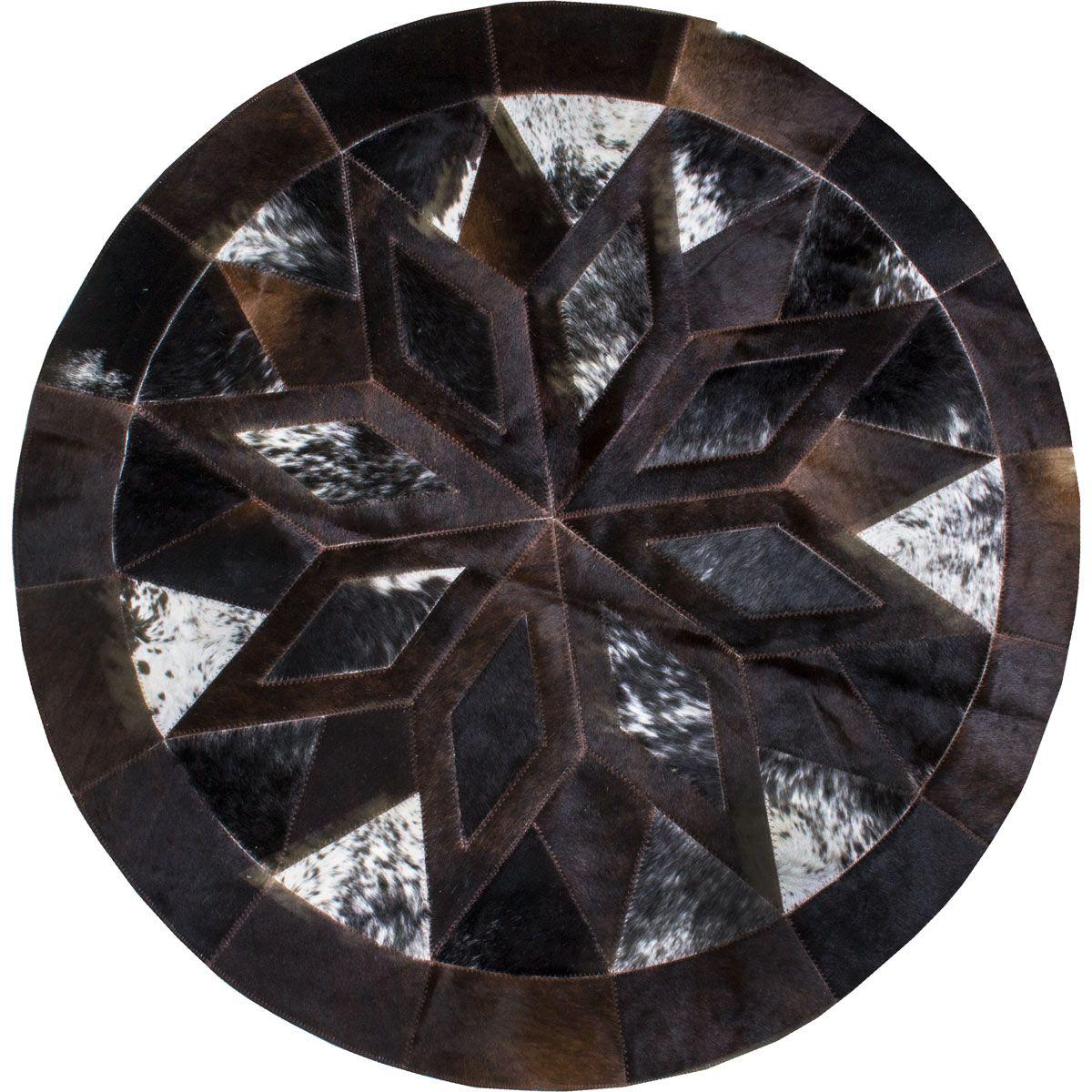 Tapete de Couro Redondo Estrela 1,15 cm