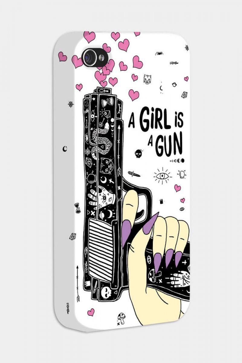 Capa Celular A Girl is a Gun