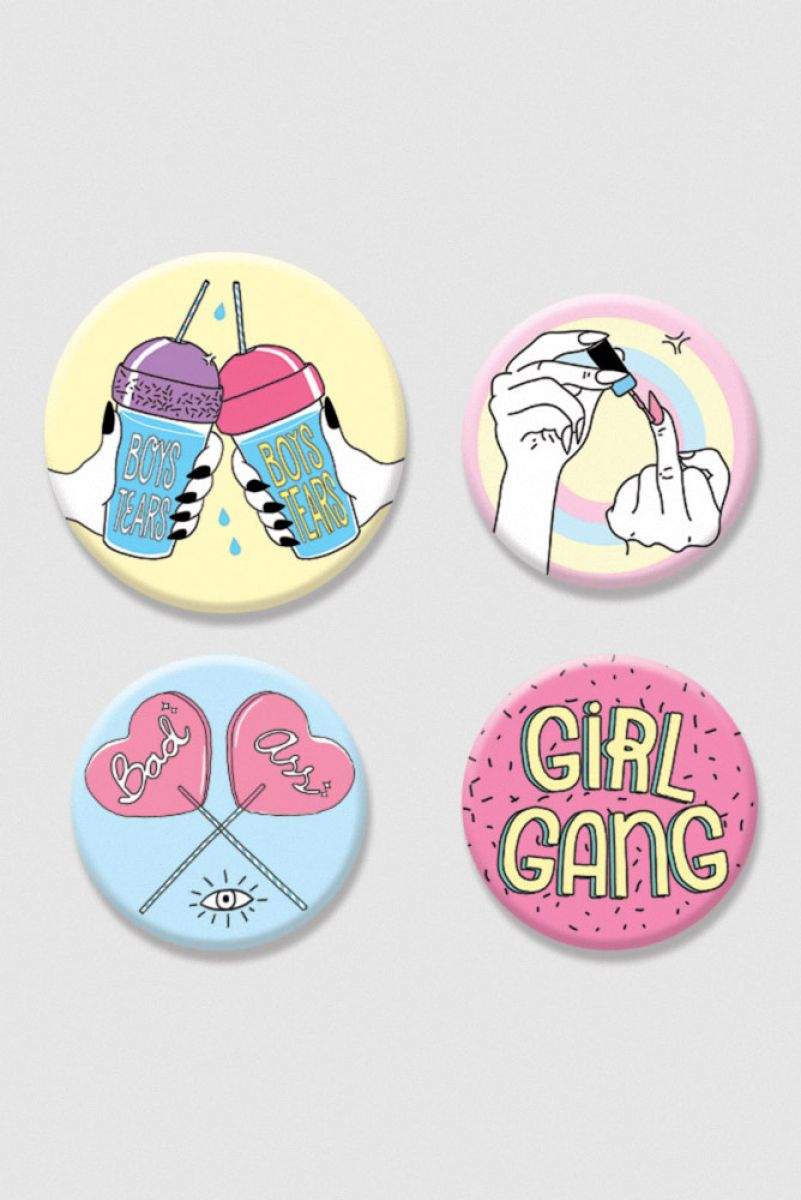 Kit de Bottons - Girl Gang