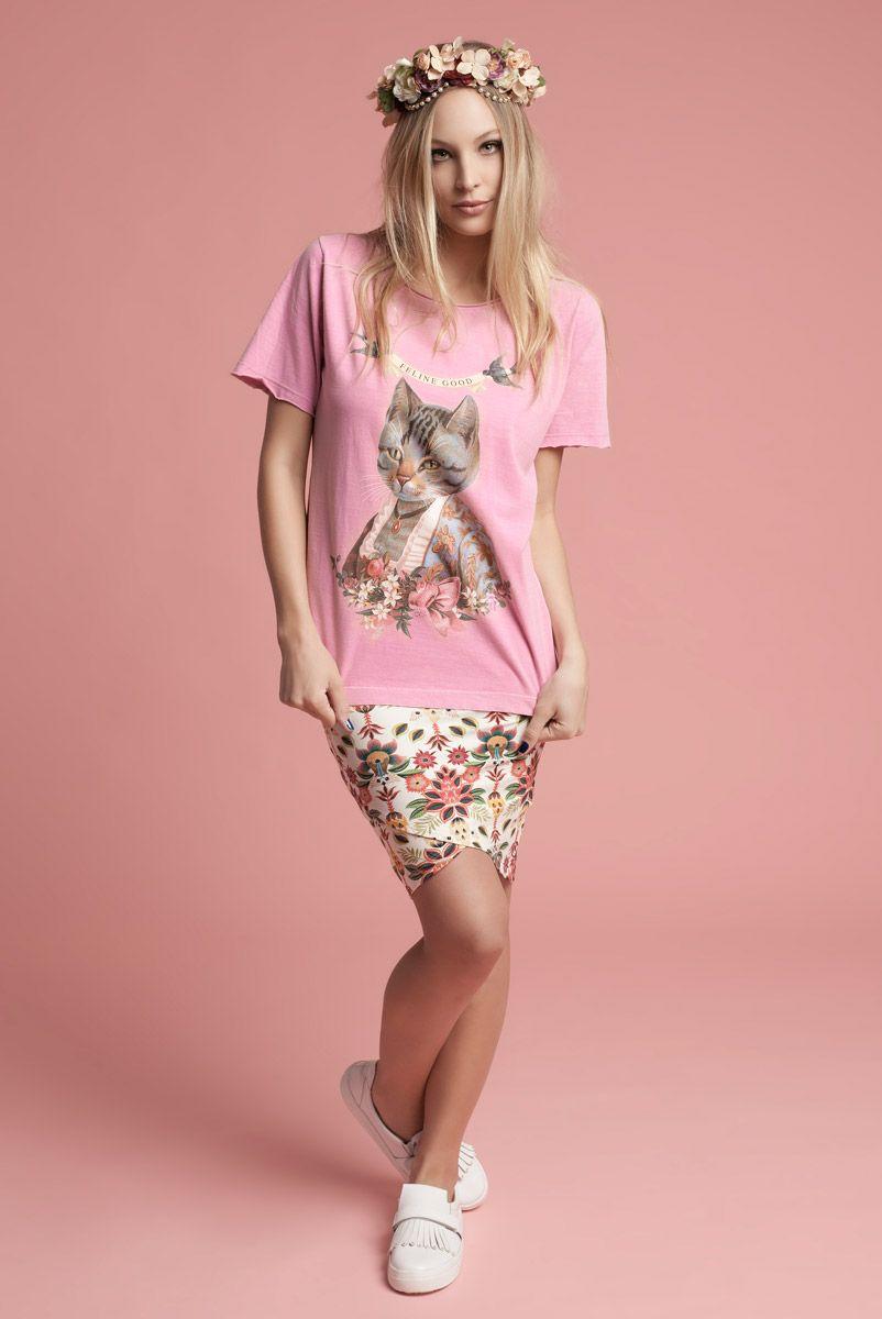 T-shirt Feline Good
