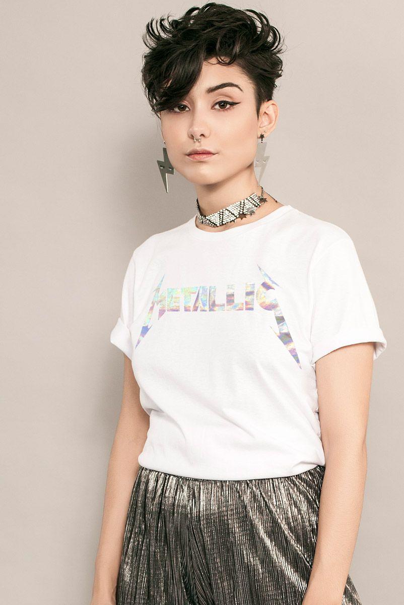 T-shirt Holográfica Metallic [edição limitada]