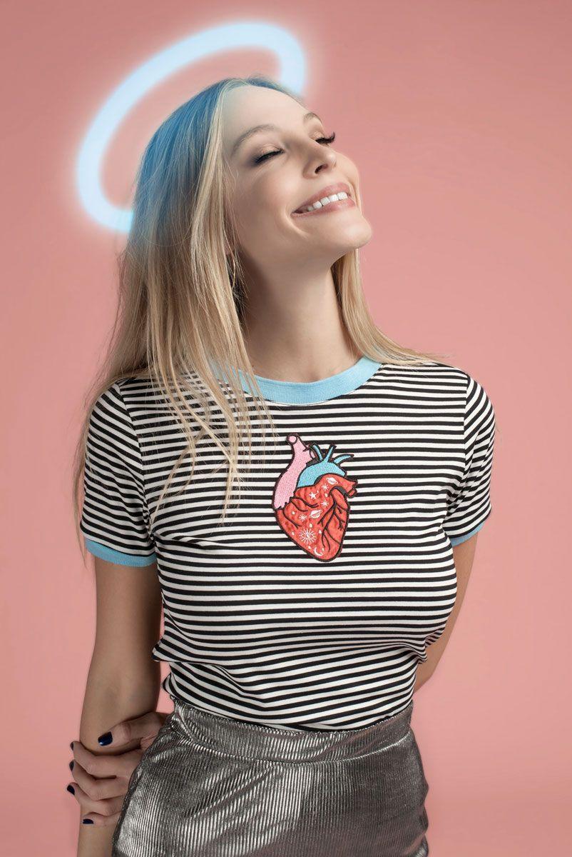 T-shirt Ringer Heart <3