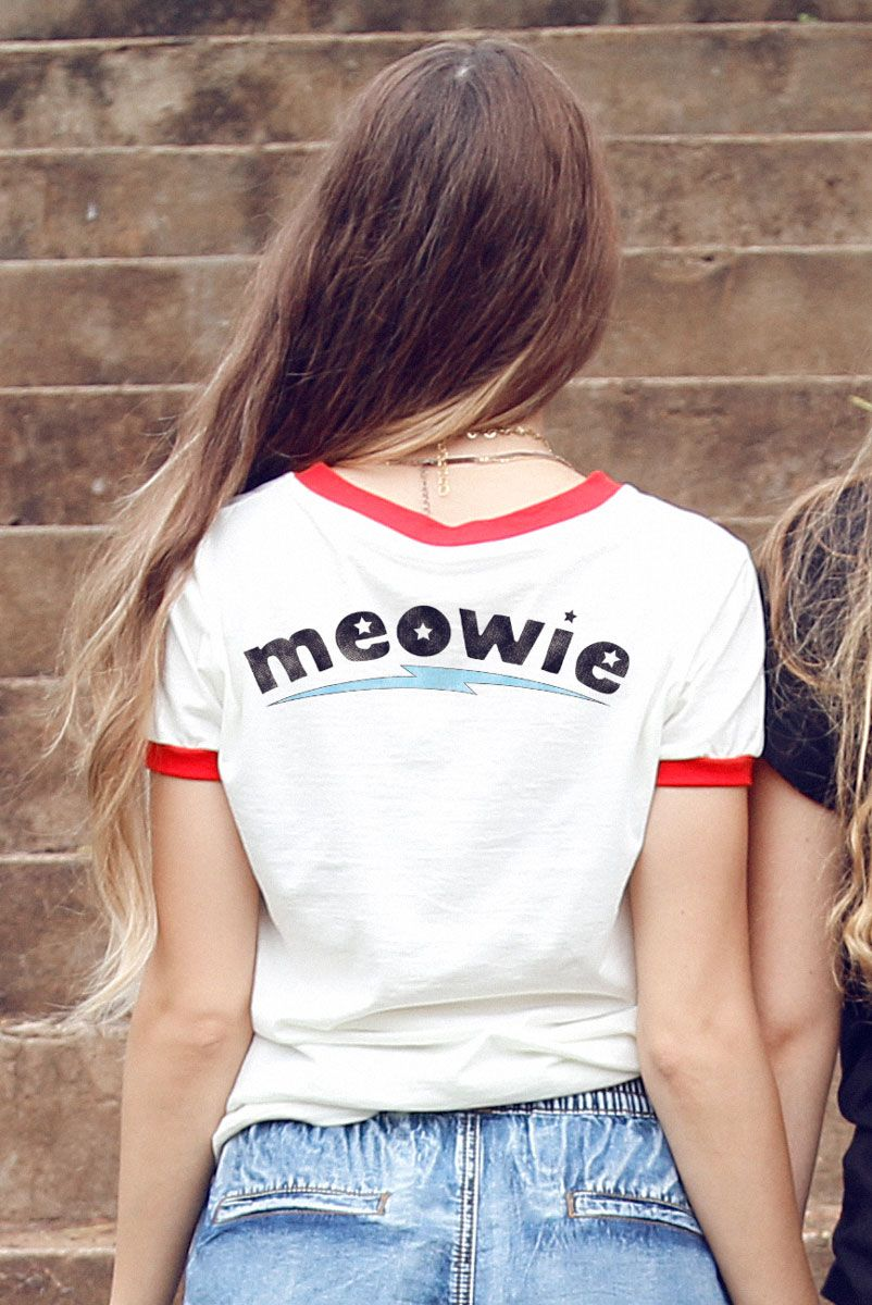 T-shirt Ringer Meowie