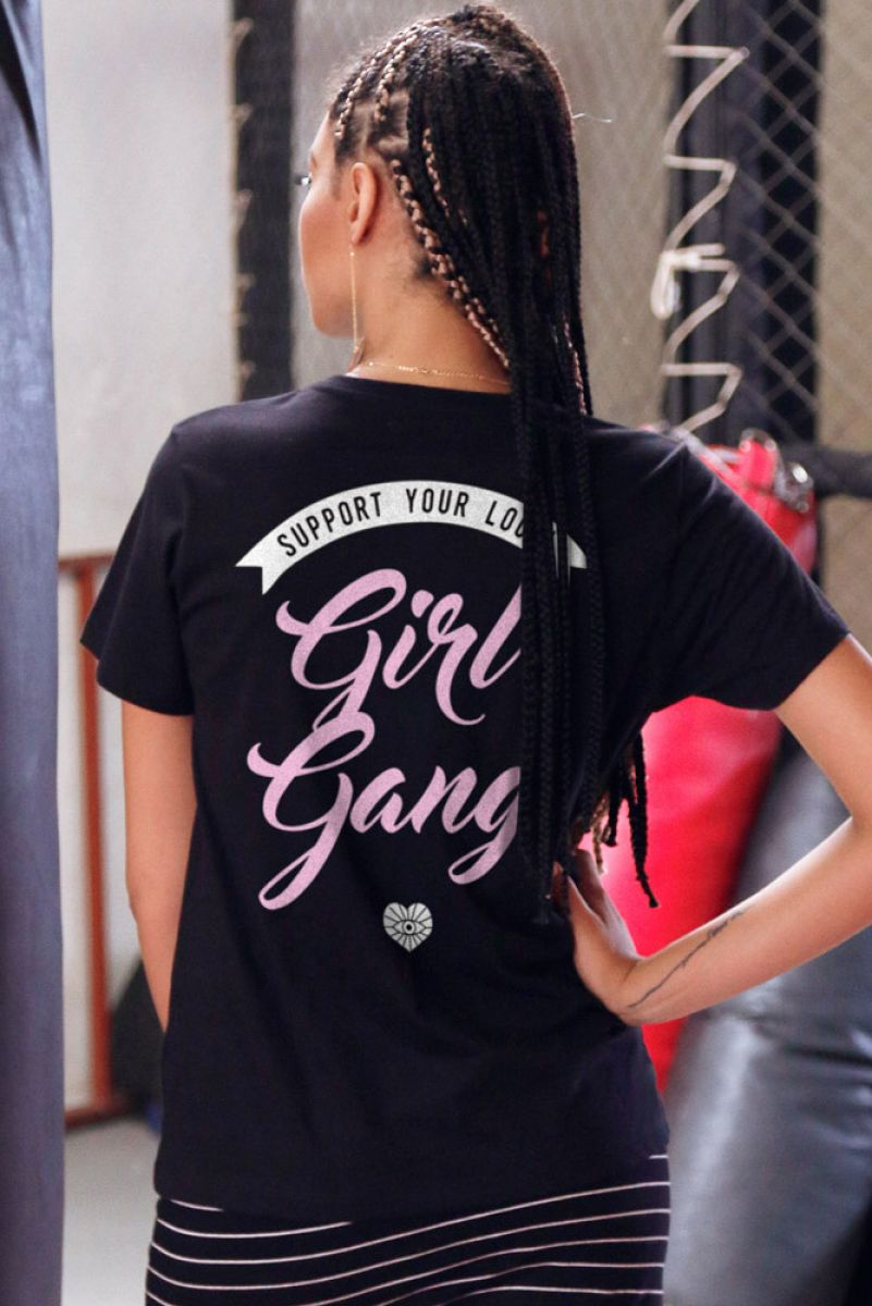 T-shirt Support Girl Gang