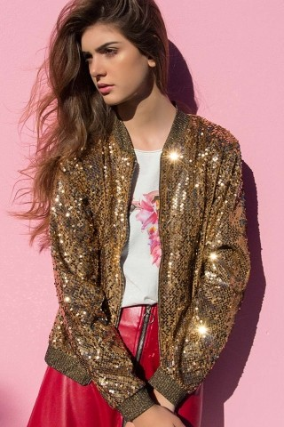Bomber Kendall Gold