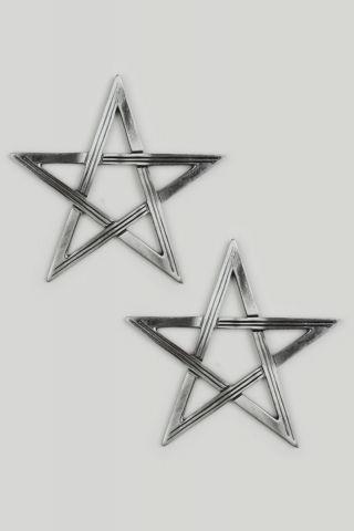 Brinco Secret Star - Prata Velha