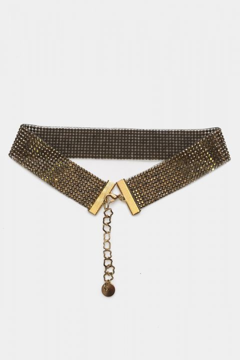 Choker Strass Gold
