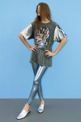Legging Metalica Hey Baby