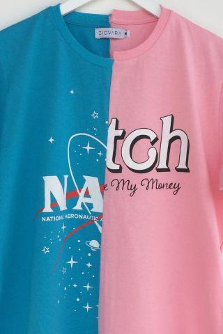 T-shirt REUZIO   nasa + bitch   Tamanho: M