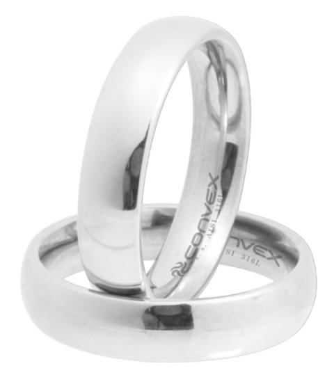 Aliança de namoro em aço 5mm - O Par
