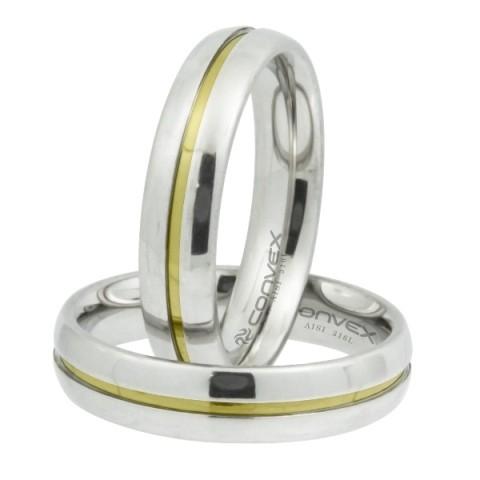 Aliança de namoro aço max prata 5mm - O Par