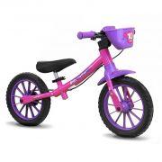 Bicicleta Infantil Feminina Aro 12 Balance sem Pedal - Nathor