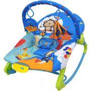 Cadeira De Descanso New Rocker Vibratória e Musical Azul - Color Baby