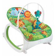 Cadeira De Descanso Safari Vibratória e Musical Verde - Color Baby