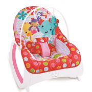 Cadeira De Descanso Safari Vibratória e Musical Vermelha - Color Baby