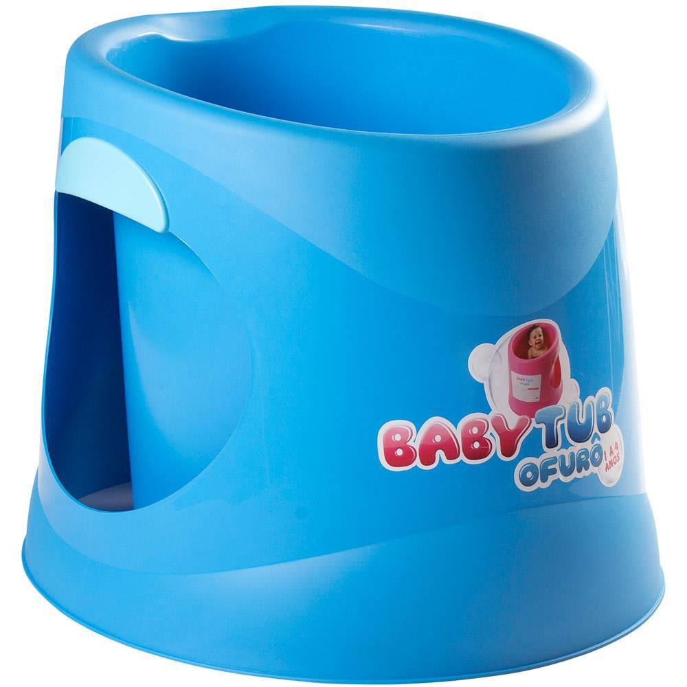 Banheira Ofurô Terapêutica Relaxante Azul Babytub 1 A 4 Anos