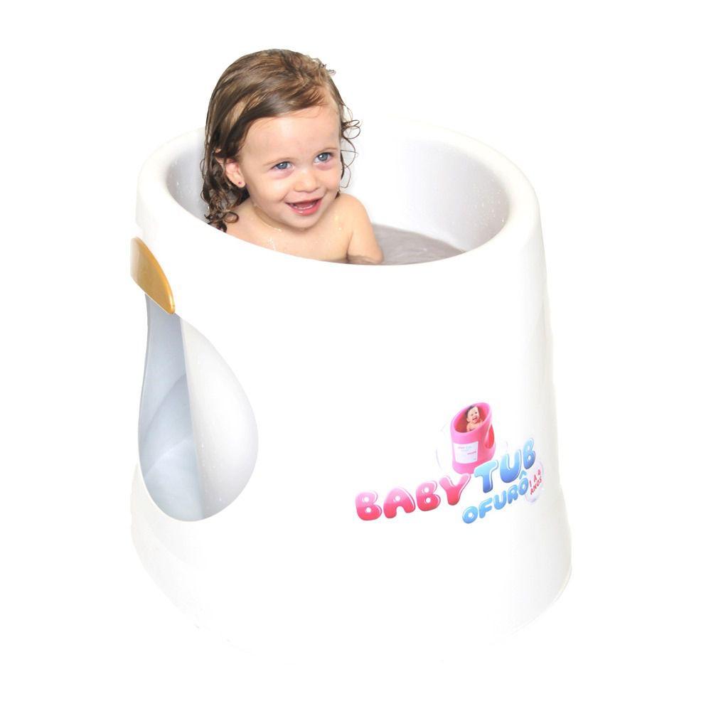 Banheira Ofurô Terapêutica Relaxante Branco Babytub 1 A 4 Anos