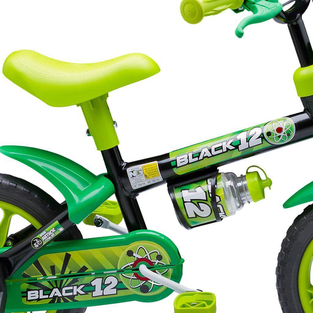 Bicicleta Infantil Masculina Aro 12 Black - Nathor