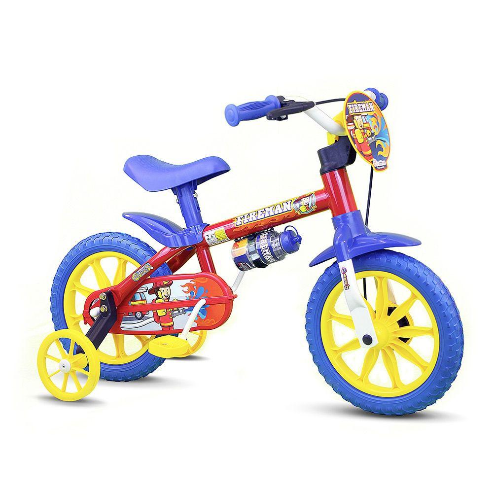 Bicicleta Infantil Masculina Aro 12 Fire Man - Nathor