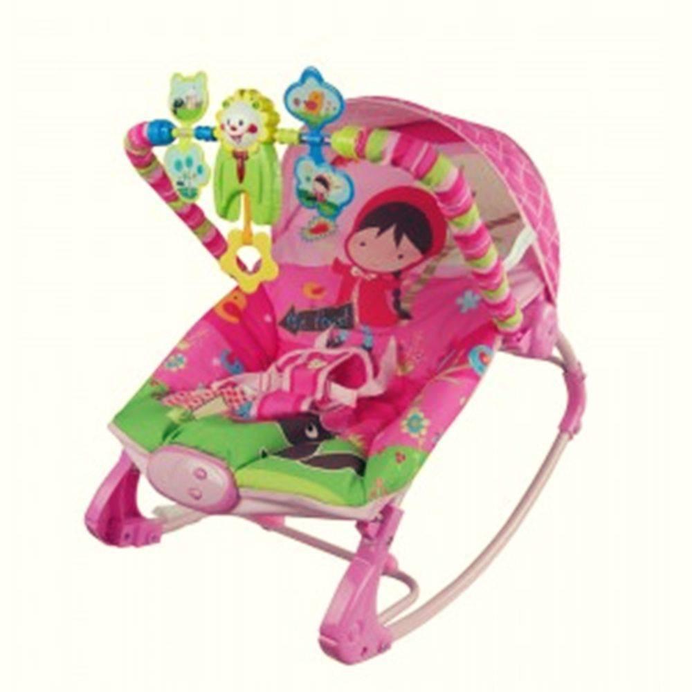 Cadeira De Descanso Rocker Vibratória e Musical Rosa - Color Baby