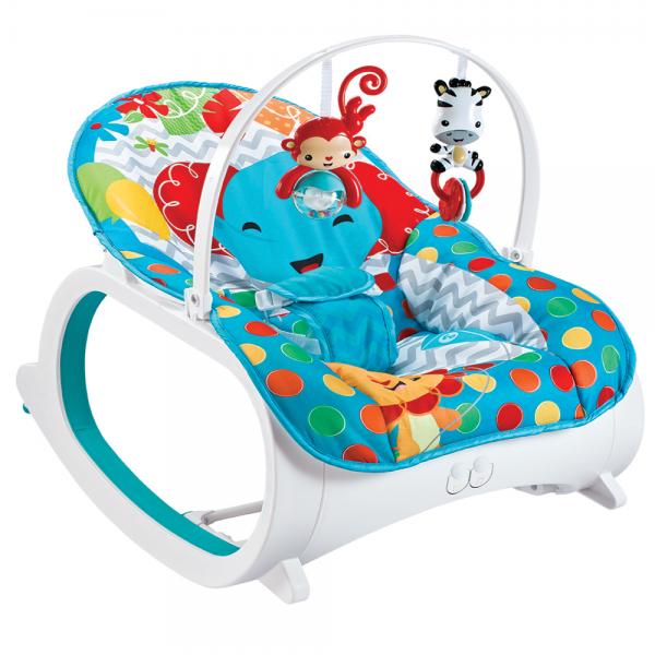 Cadeira De Descanso Safari Vibratória e Musical Azul - Color Baby