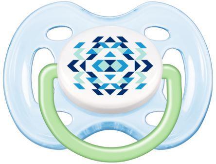 Chupeta Contemporânea FreeFlow 0-6 Meses 2 Unidades Azul
