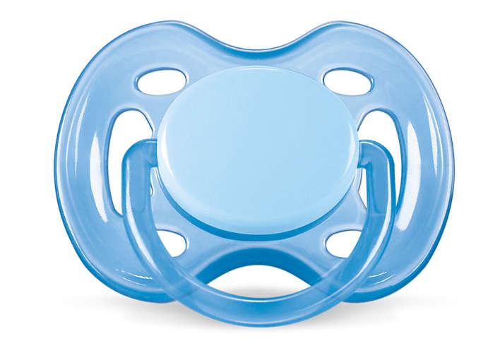 Chupeta Freeflow Ortodôntica 0-6M Simples Azul