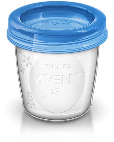Kit Copos Para Armazenamento de Leite Materno com 10 Unidades - Philips Avent