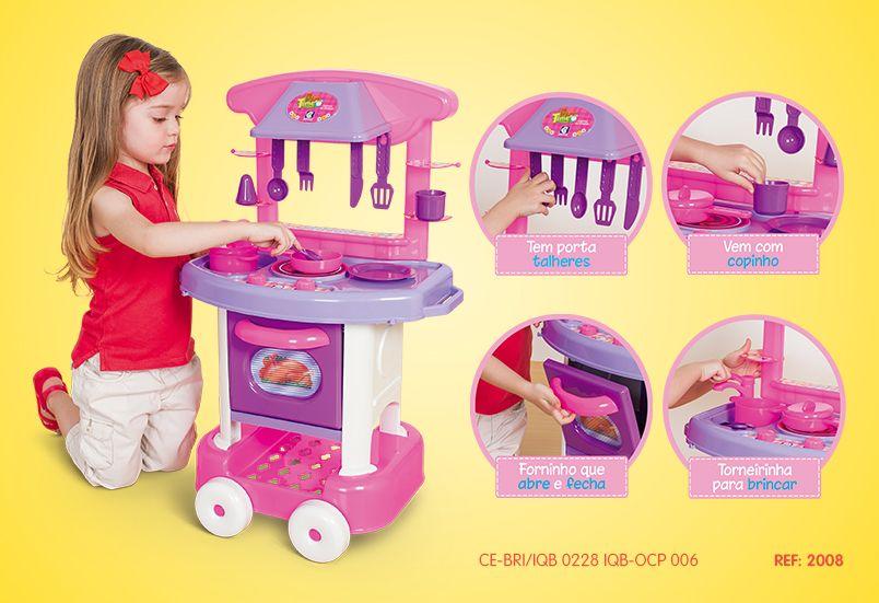 Cozinha Infantil Play Time Com Pia Fogão e Forno - Cotiplás