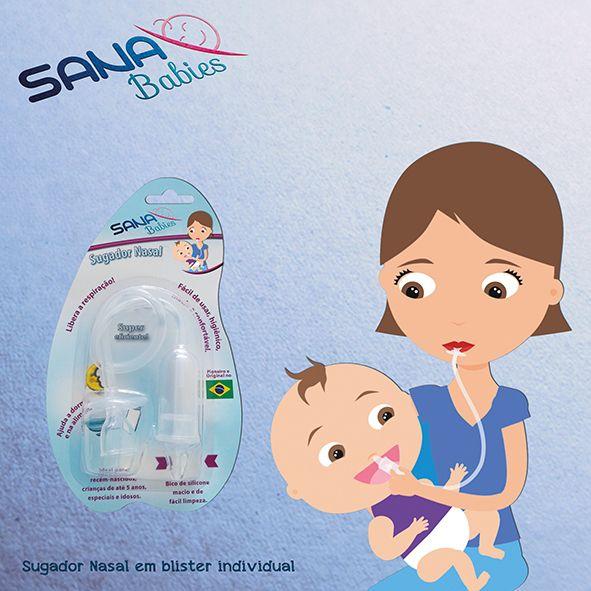 Sugador Nasal para Bebês - Sana Babies