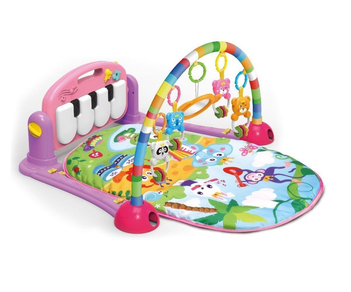 Tapete de Atividades para Bebê Musical com Piano Rosa - Color Baby