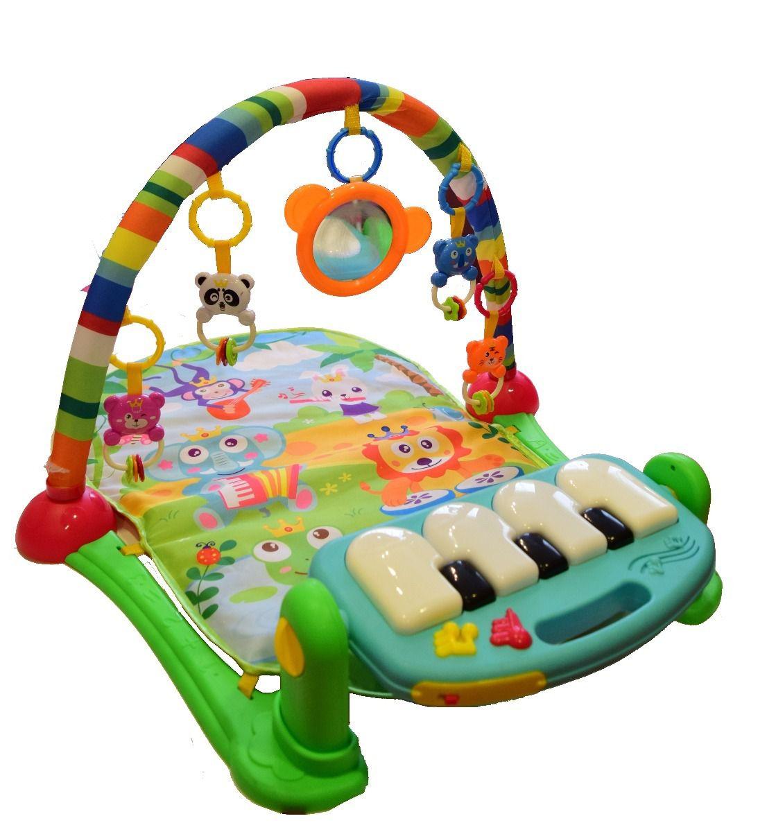 Tapete de Atividades para Bebê Musical com Piano Verde - Color Baby