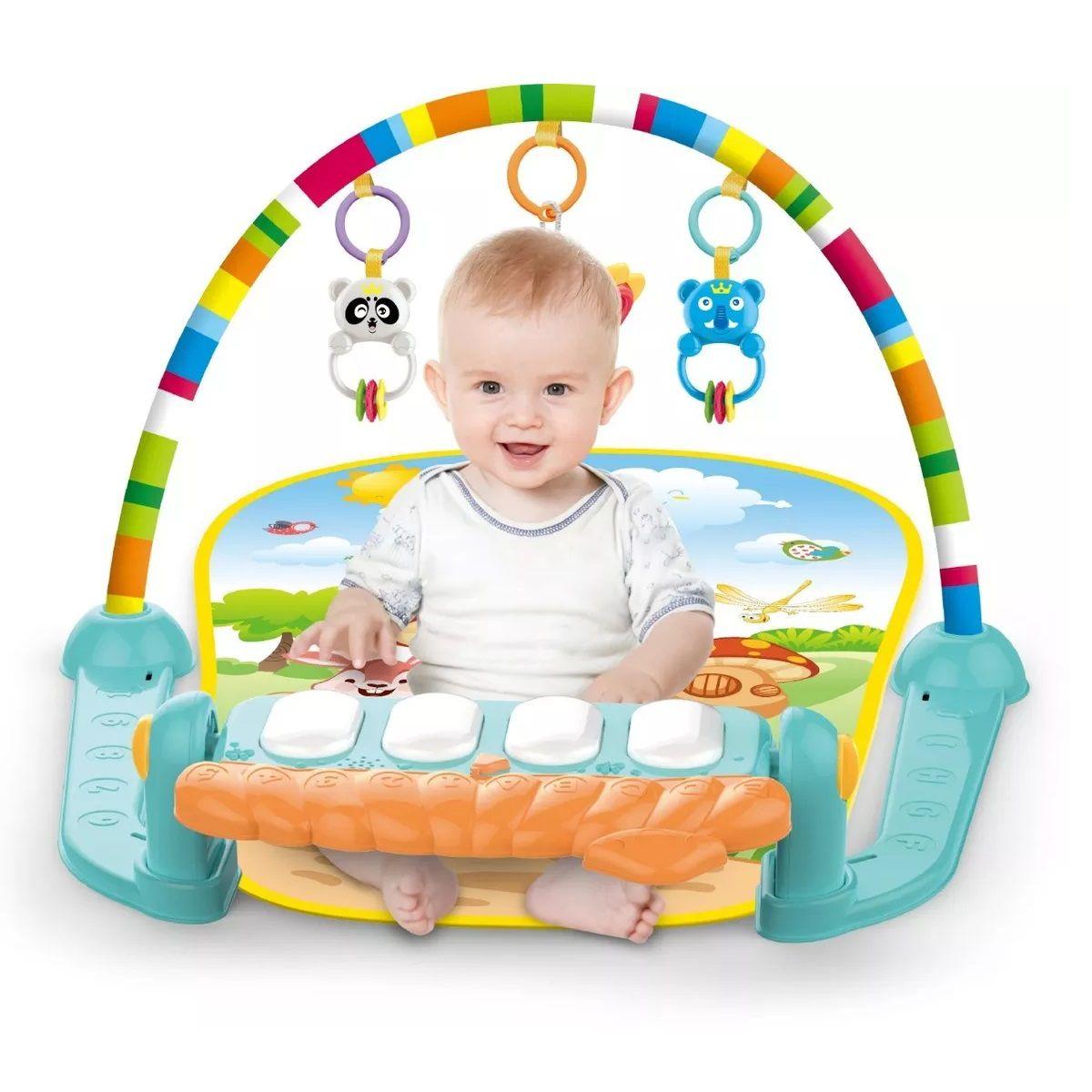 Tapete de Atividades para Bebê Musical com Piano Verde Villa - Color Baby
