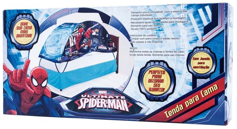 Tenda Barraca Toca para Cama Homem Aranha Spider-Man - Zippy Toys