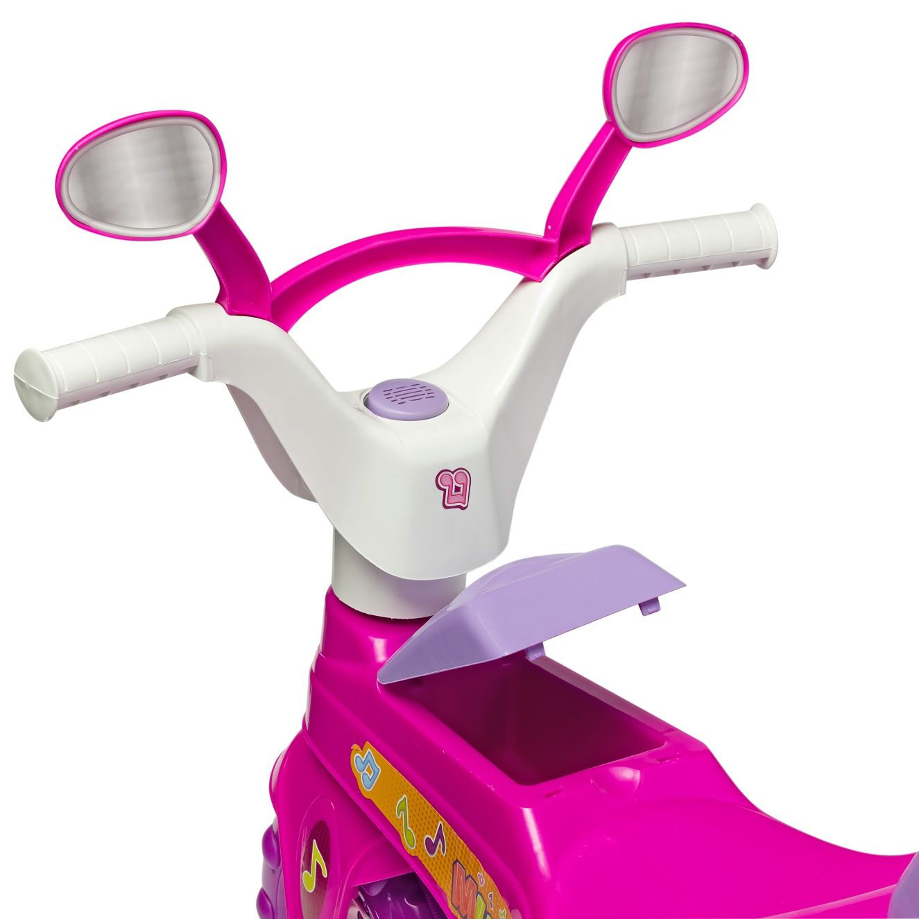Triciclo Infantil Baby Music Rosa com Haste - Cotiplás