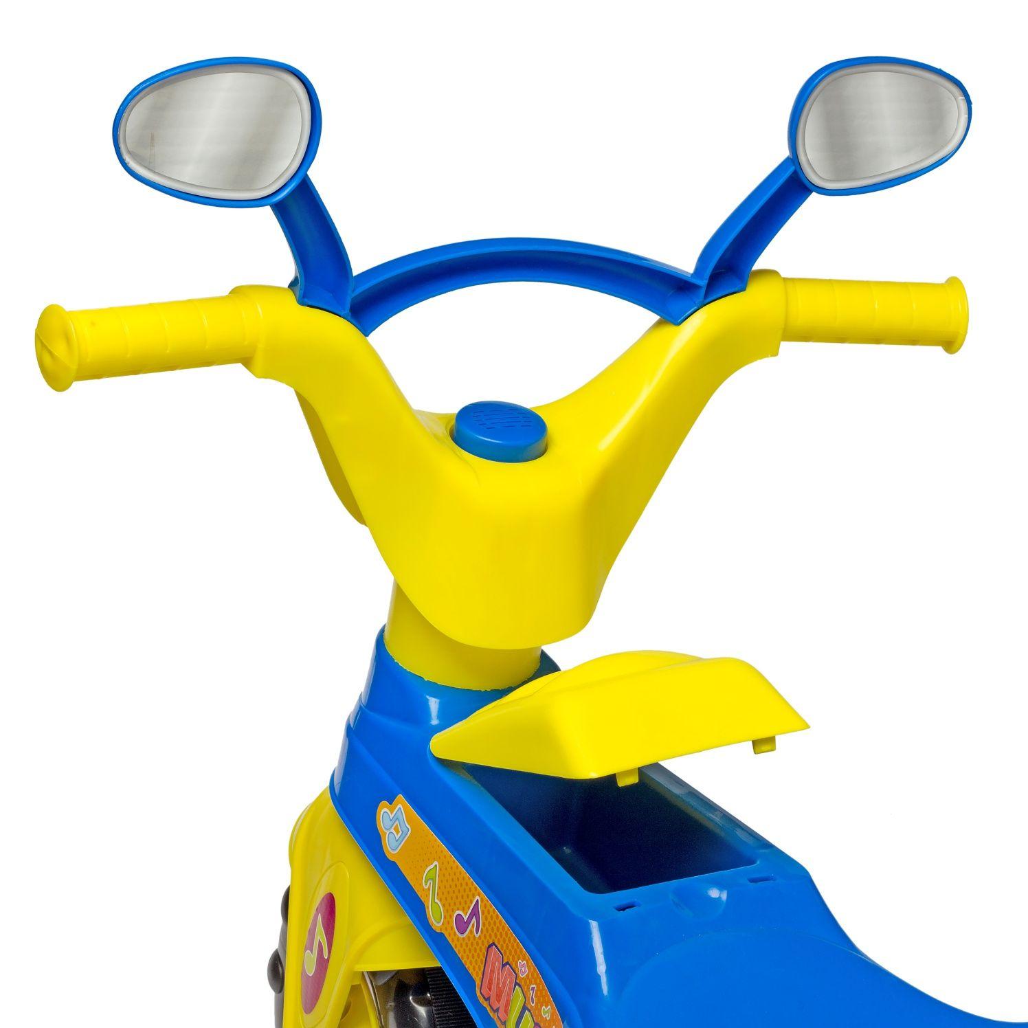Triciclo Infantil Blue Music com Haste - Cotiplás