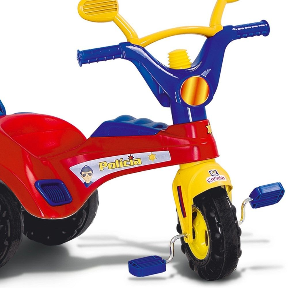 Triciclo Infantil Policial com Haste - Cotiplás