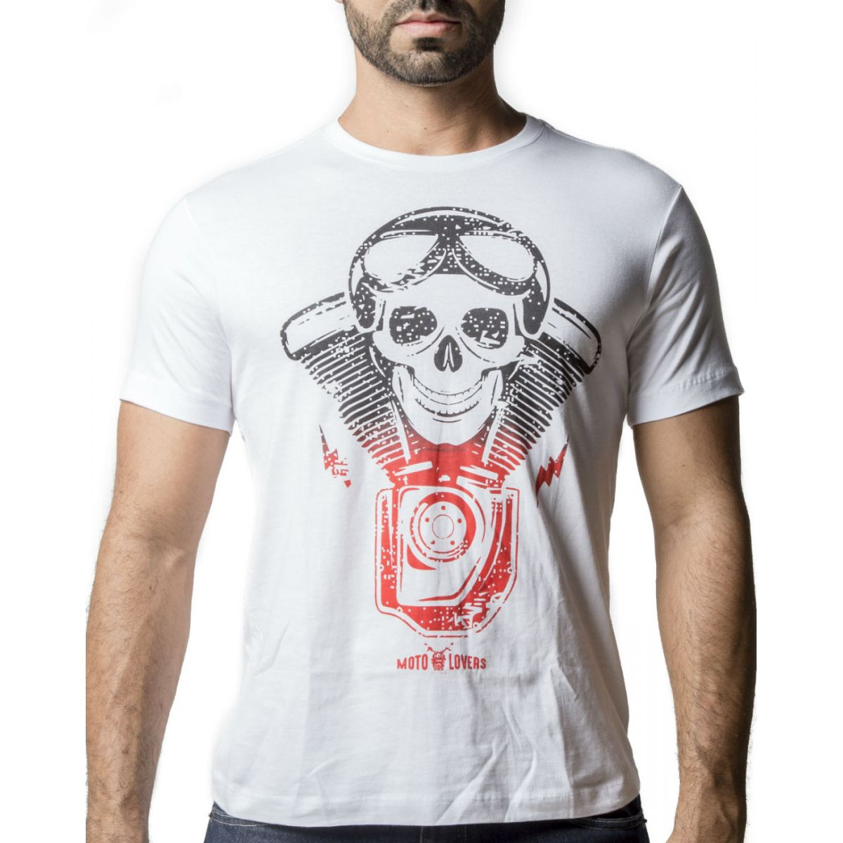 Camiseta Caveira Motociclista