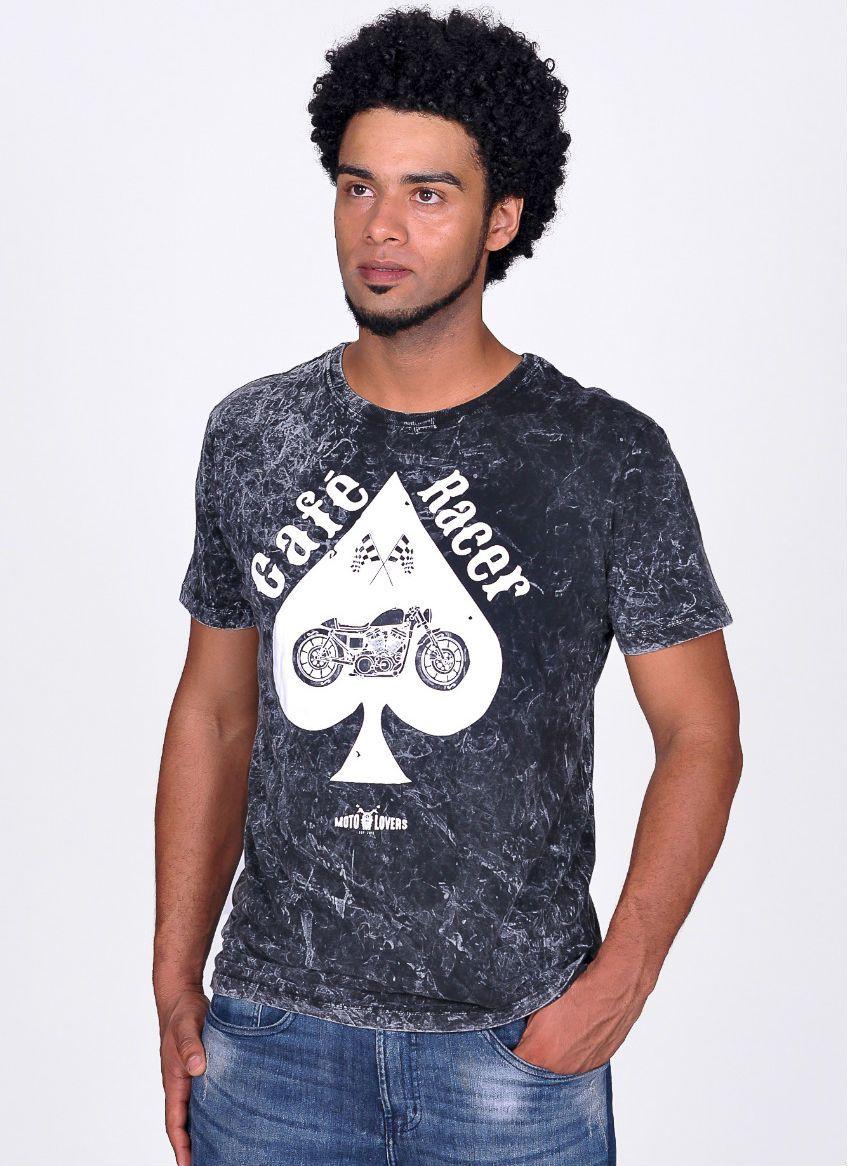 Camiseta Moto Lovers - Café Racer Marmorizado