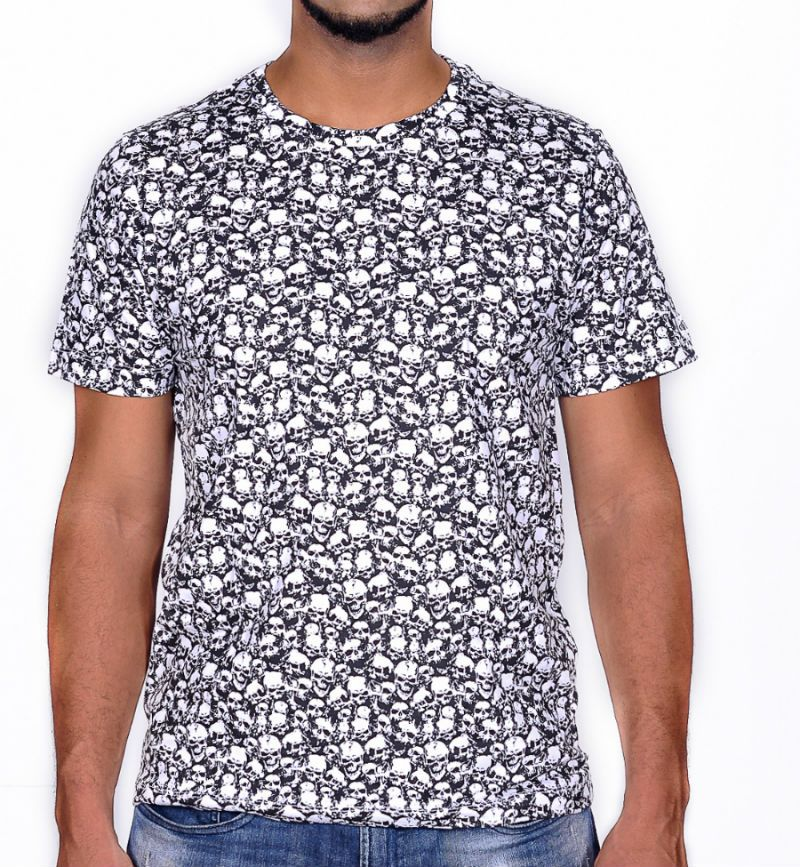 Camiseta Moto Lovers - Caveirinhas