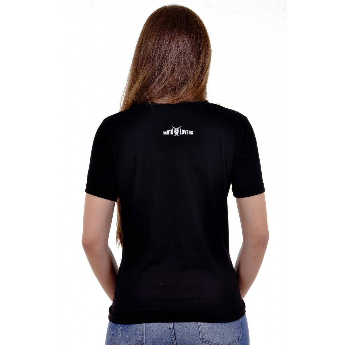 Camiseta Mulher Motociclista - Edição Limitada