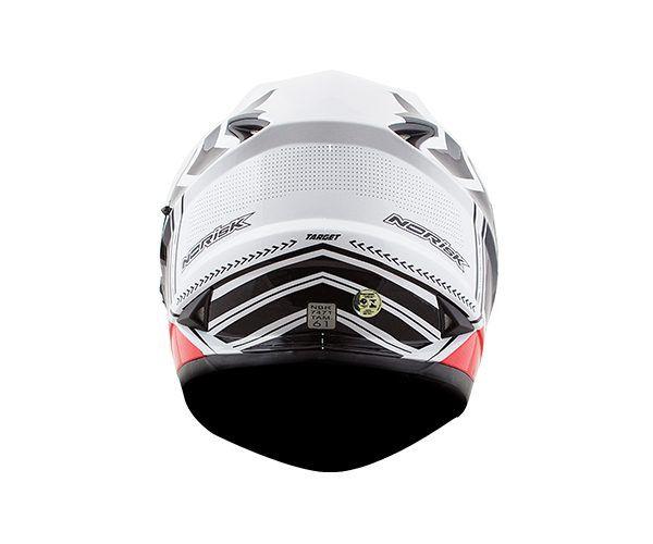 Capacete NoRisk FF302 TARGET Branco-Vermelho