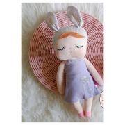 Boneca Metoo Angela - Orelhas Lilás e Vestido Lilás
