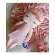 Boneca Metoo Angela - Orelhas Rosa e Vestido Rosa
