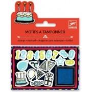 Caixa de Carimbos - Djeco - Aniversário